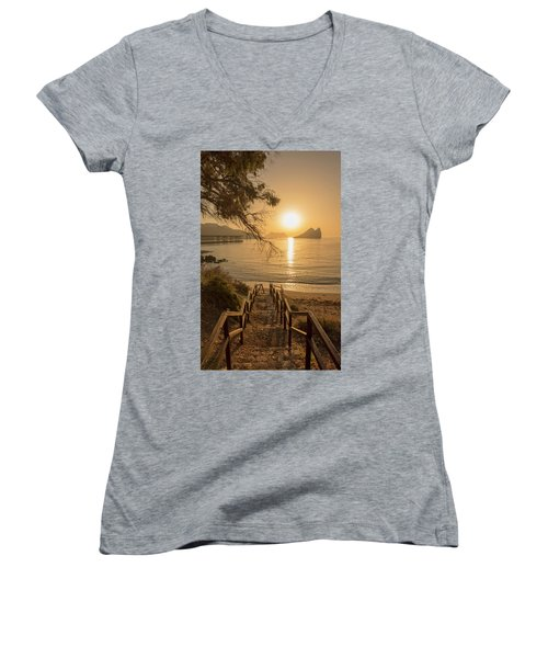 Access To The Beach At Dawn Women's V-Neck