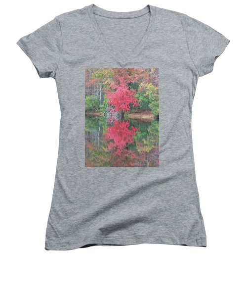 Autumn Pink Women's V-Neck