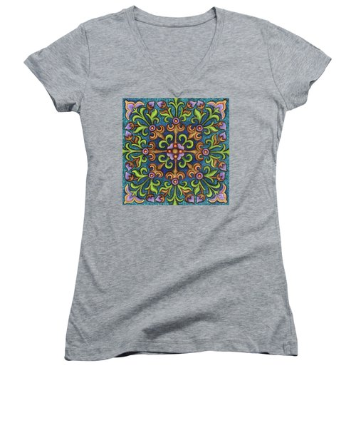 Botanical Mandala 8 Women's V-Neck