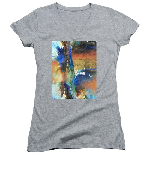 Electric And Warm Women's V-Neck