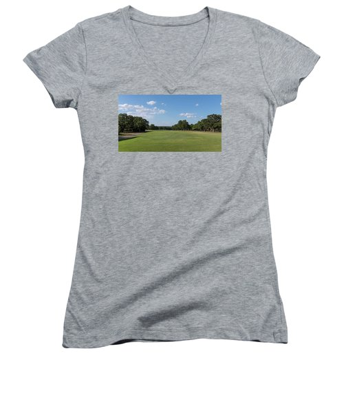 Hole #1 Women's V-Neck (Athletic Fit)