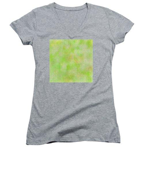 Lime Batik Print Women's V-Neck