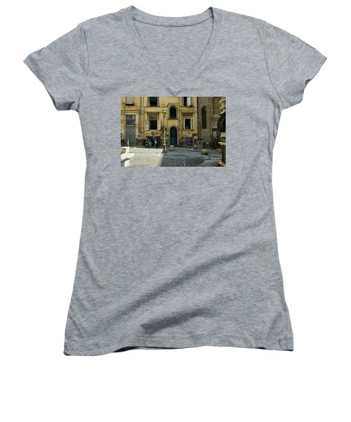 Naples Italy Women's V-Neck