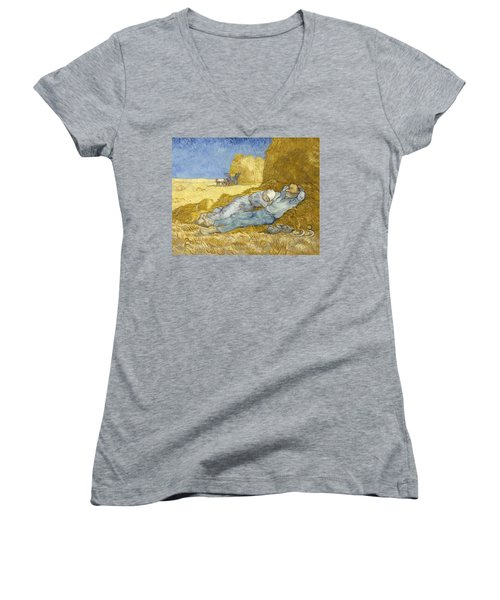 Noon - Rest From Work Women's V-Neck