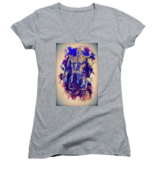 Thanos Watercolor Women's V-Neck