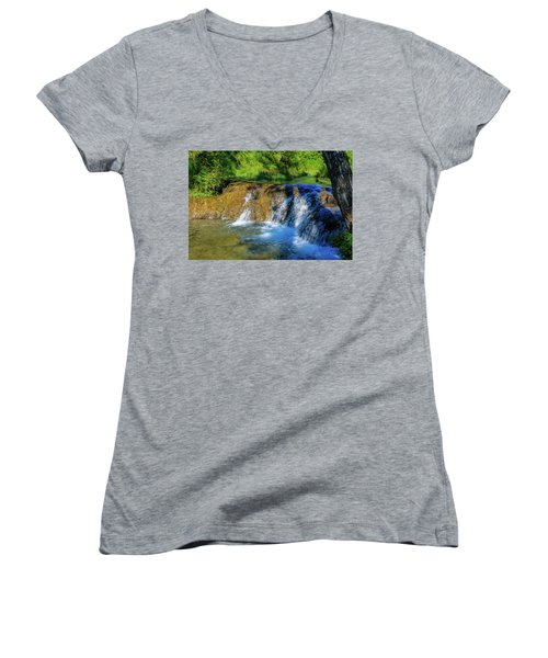The Springs In It's Summer Green, Big Hill Springs Provincial Re Women's V-Neck
