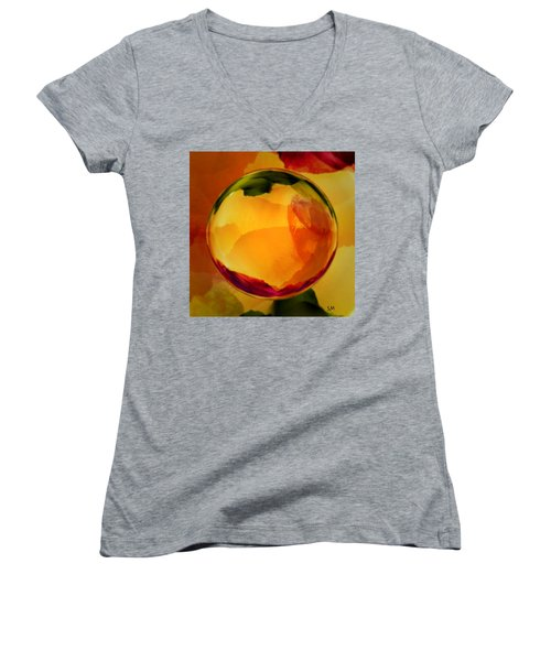 Watercolor Glass Marble  Women's V-Neck