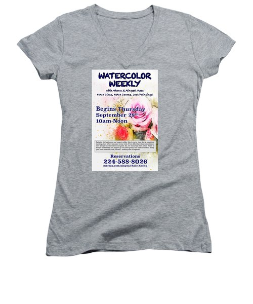 Watercolor Weekly Women's V-Neck