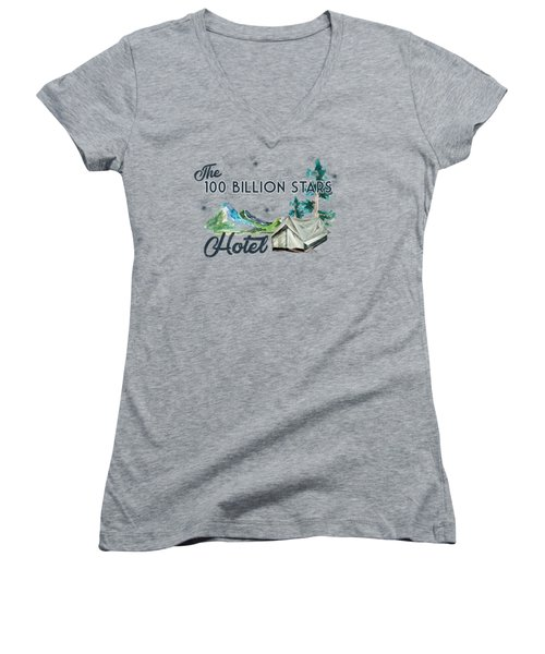 100 Billion Stars Hotel Women's V-Neck