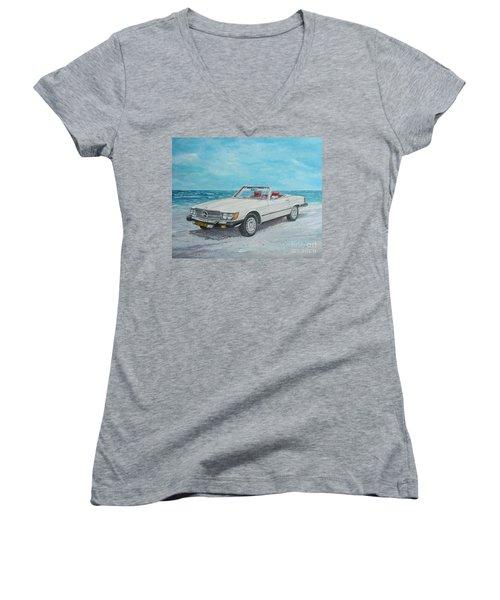 1979 Mercedes 450 Sl Women's V-Neck