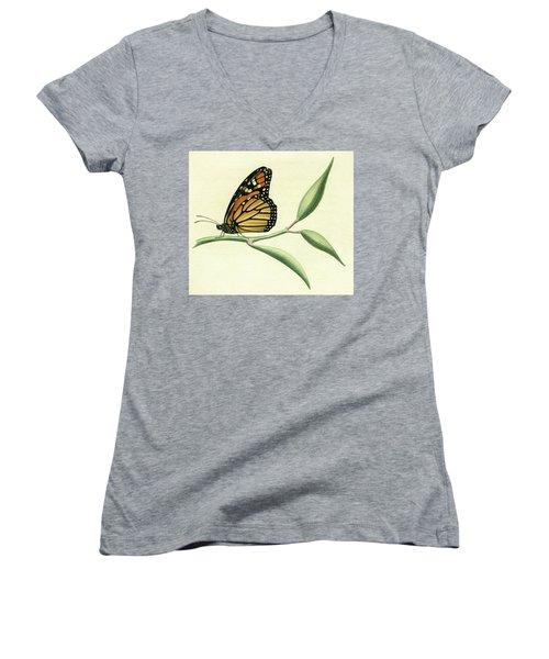 Butterfly Women's V-Neck