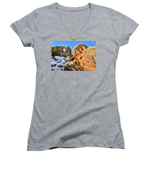 Colorful Colorado National Monument Women's V-Neck
