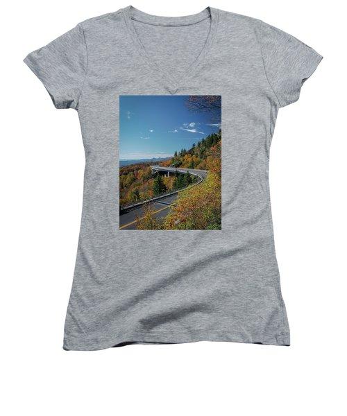 Linn Cove Viaduct - Blue Ridge Parkway Women's V-Neck