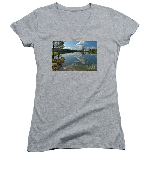 Reflections By The Lake Women's V-Neck