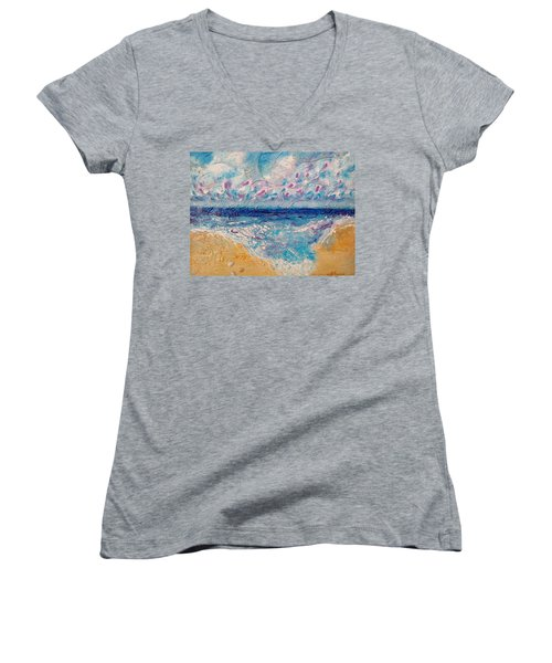 A Drop In The Ocean Women's V-Neck (Athletic Fit)