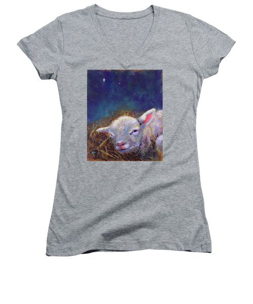 A King Is Born Women's V-Neck