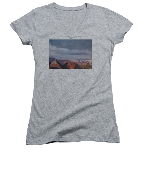 A Little Rain Over The Canyon Women's V-Neck (Athletic Fit)