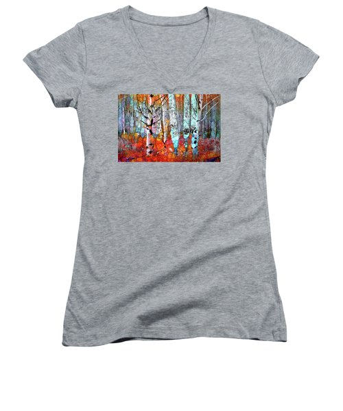 A Party In The Forest Women's V-Neck