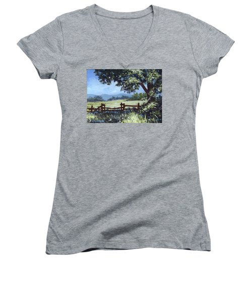 A Shady Rest Sketch Women's V-Neck (Athletic Fit)