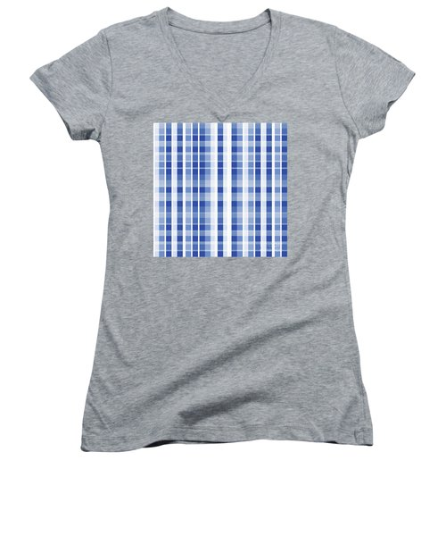 Abstract Squares And Lines Background - Dde609 Women's V-Neck