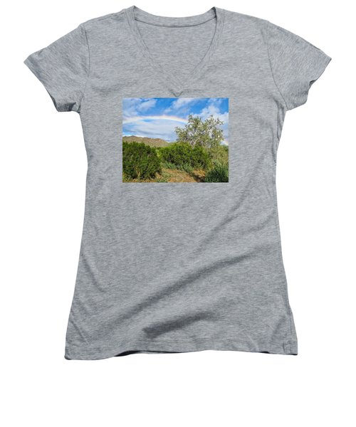 After An Arizona Winter Rain Women's V-Neck
