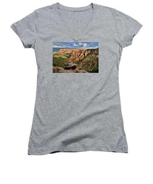 After The Storm Light On Colorado National Monument Women's V-Neck