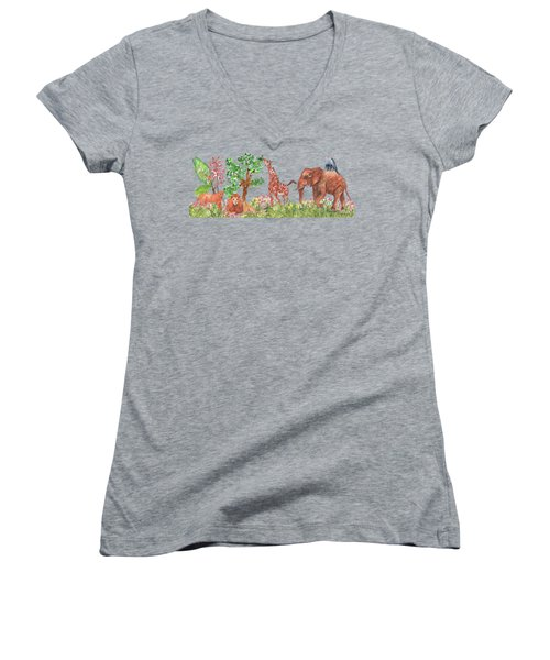 All Is Well In The Jungle Women's V-Neck