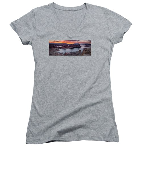 Women's V-Neck featuring the photograph Alstrom Point by Edgars Erglis