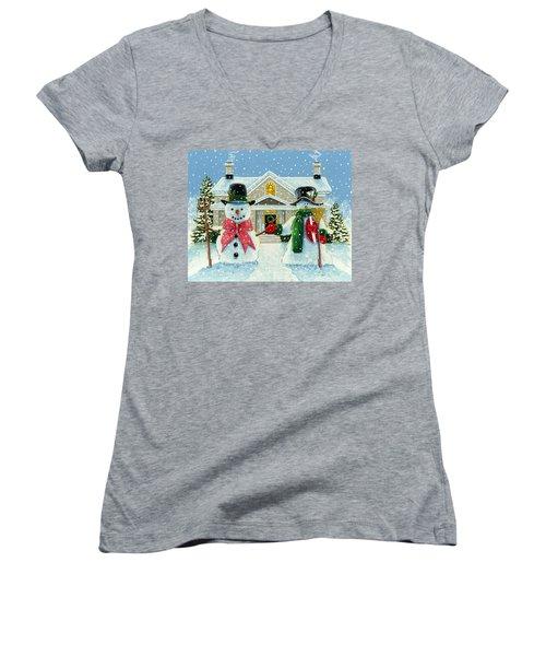 American Snowman Gothic Women's V-Neck