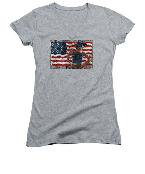 American Woman Women's V-Neck (Athletic Fit)
