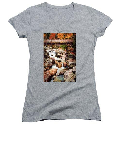 Ammonoosuc River, Autumn Women's V-Neck