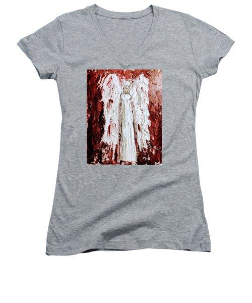 Angel Against Violence Women's V-Neck