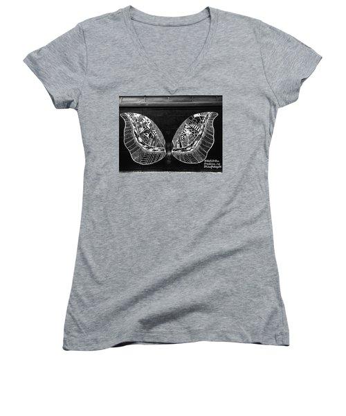 Angel Butterfly Wings Women's V-Neck