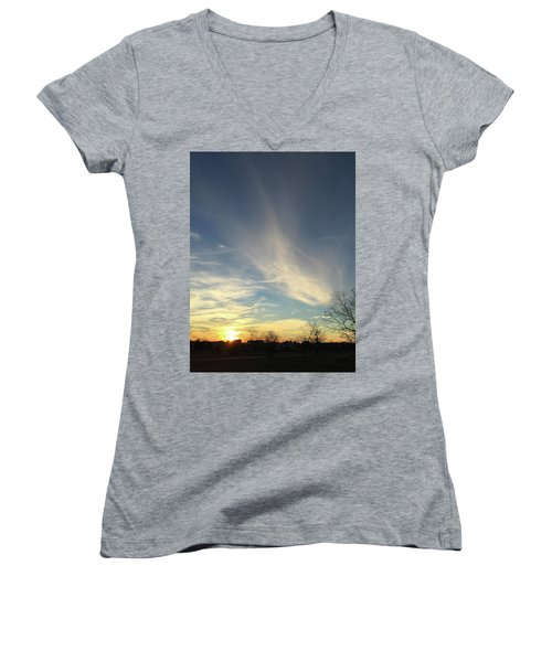 Angel Cloud Sunset Women's V-Neck