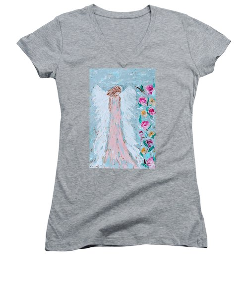 Angel For Childbirth And Women's V-Neck