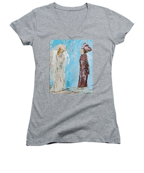 Angel Of Wisdom Women's V-Neck