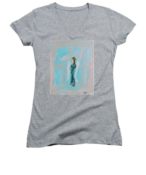 Angel With Character Women's V-Neck