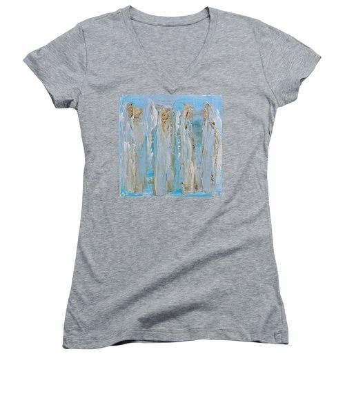 Angels Coming Together Women's V-Neck