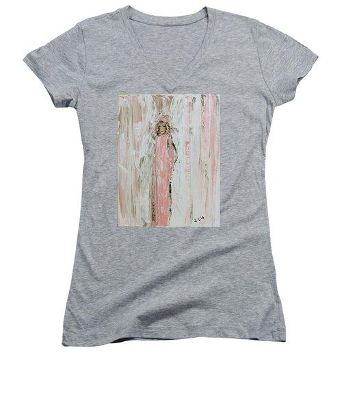 Angels In Pink Women's V-Neck