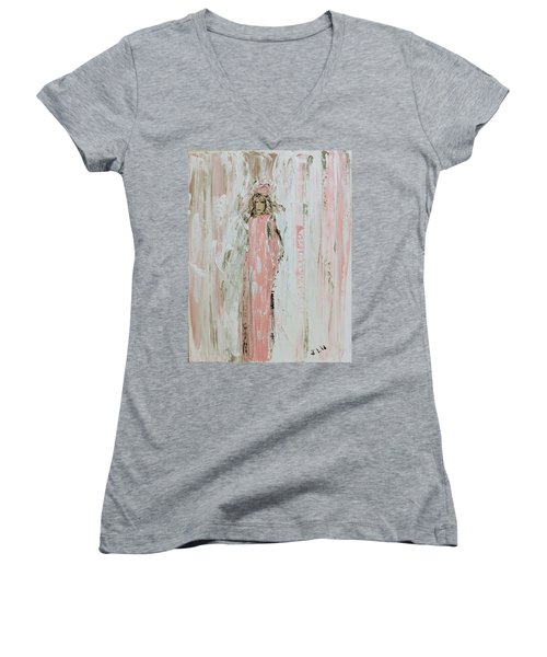 Angels In Pink Women's V-Neck