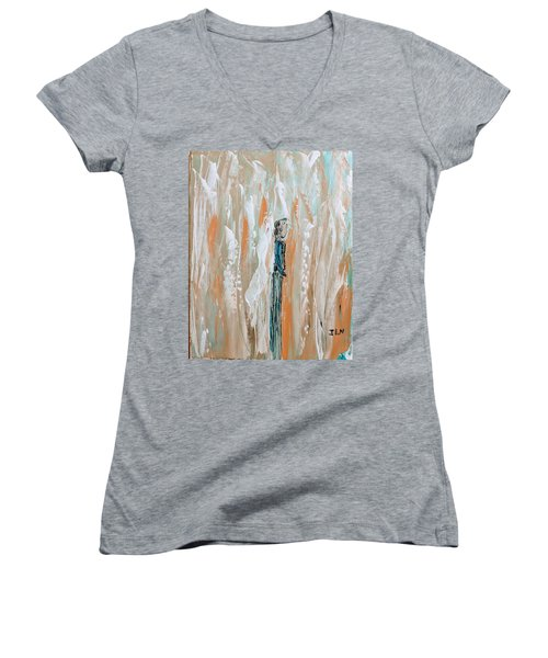 Angels In The Midst Of Every Day Life Women's V-Neck