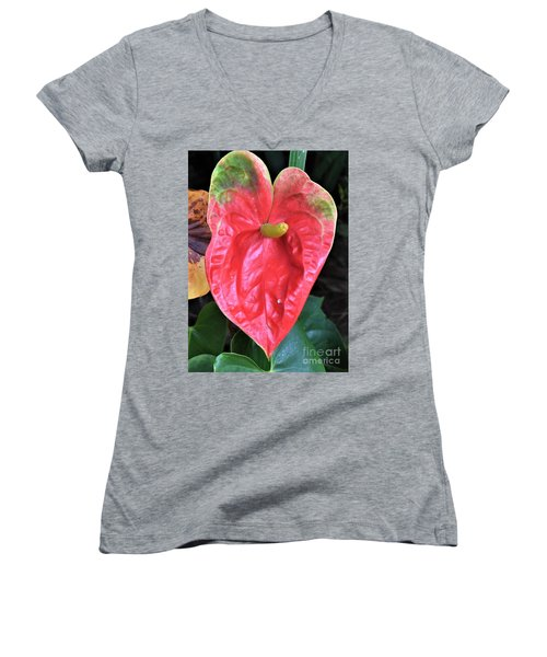 Anthurium  Women's V-Neck