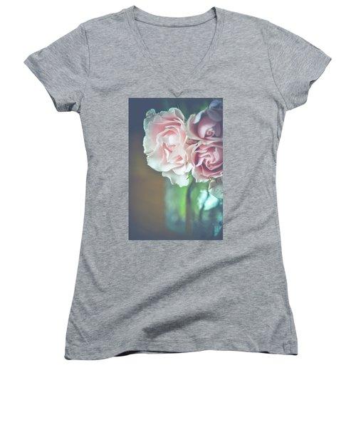 Antique Roses Women's V-Neck