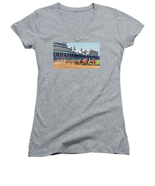 Around The First Turn Women's V-Neck