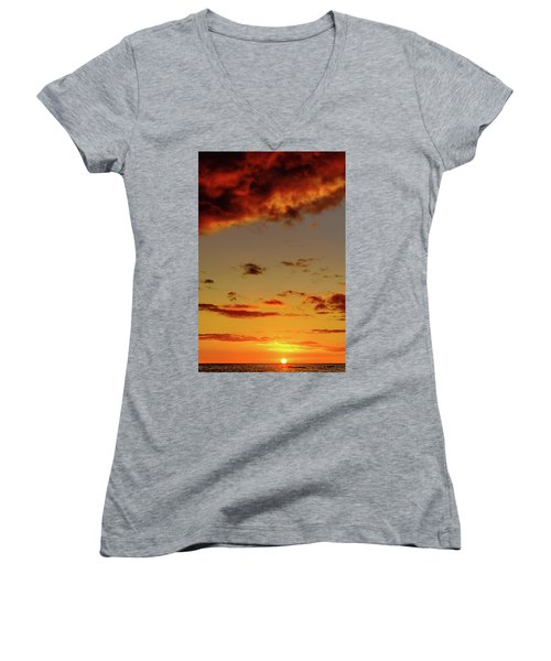As The Sun Touches Women's V-Neck