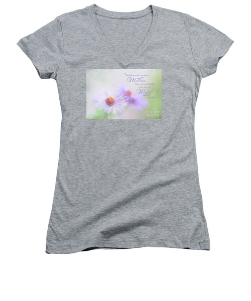 Asters For Mother's Day Women's V-Neck