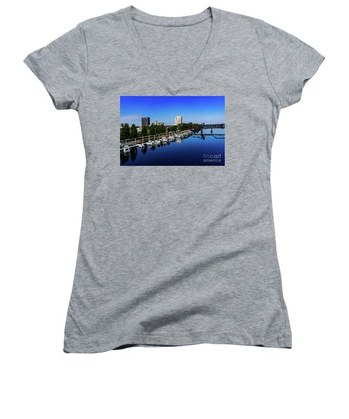 Augusta Ga Savannah River 2 Women's V-Neck