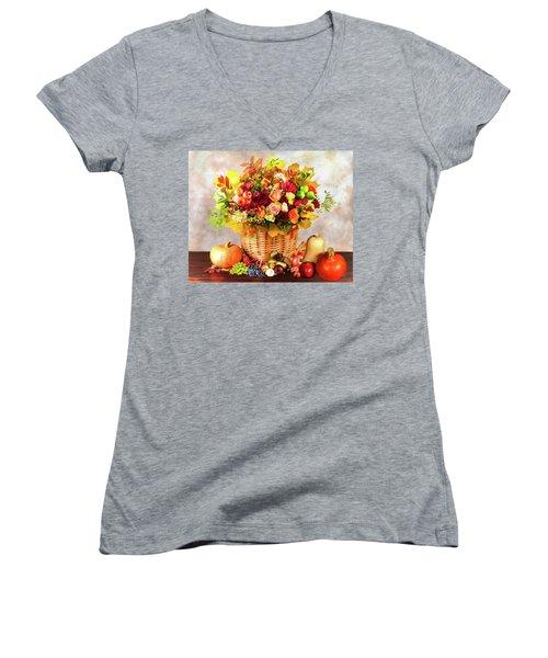 Autum Harvest Women's V-Neck