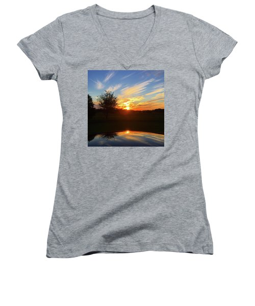 Autumn Sunset Women's V-Neck