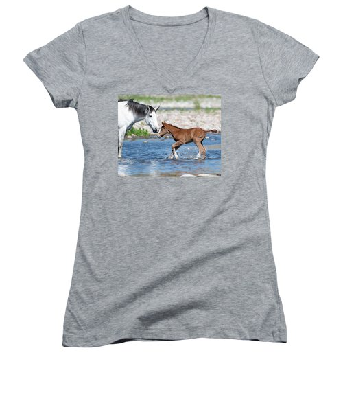 Baby's First River Trip Women's V-Neck